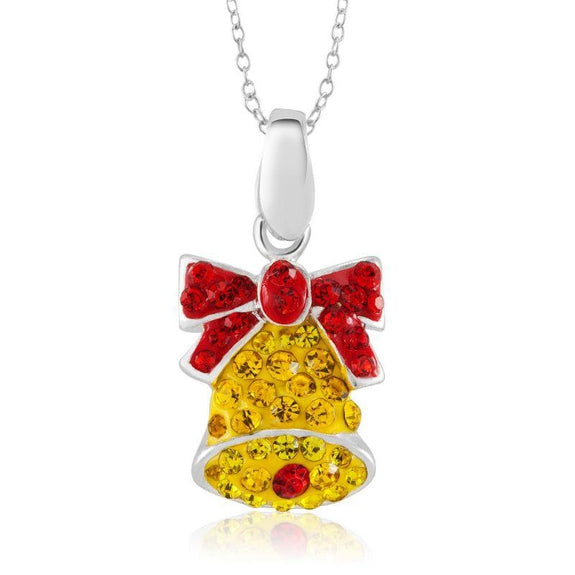 Crystal Holiday Necklace-Bell-Daily Steals