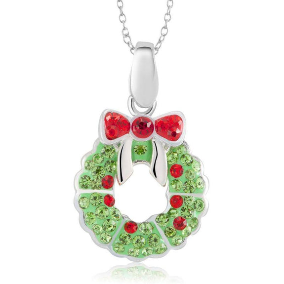 Crystal Holiday Necklace-Wreath-Daily Steals