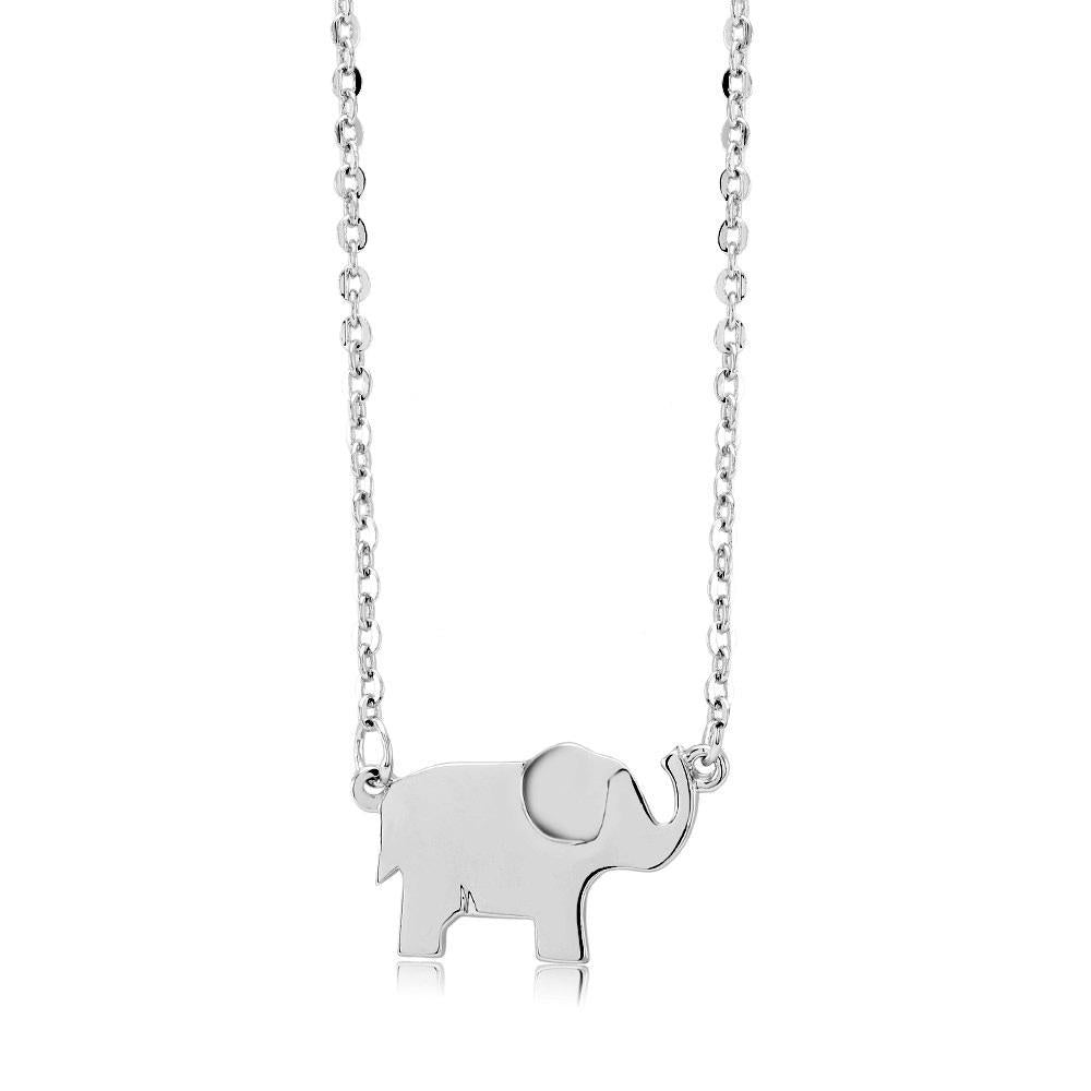 Beautiful & Stylish Animal Drop Necklace-White-Elephant-Daily Steals