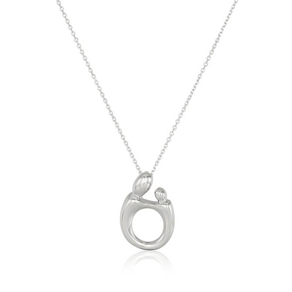 Mother And Daughter Silver Drop Necklace-Daily Steals