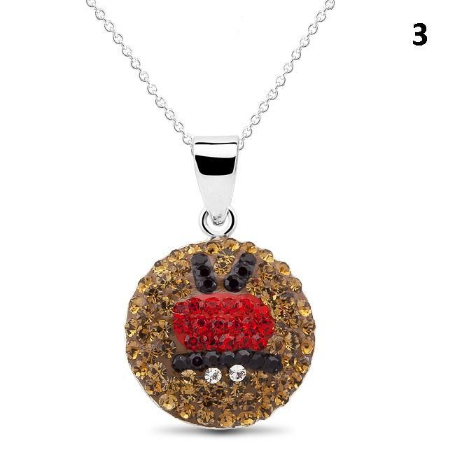 Crystal Emoji Designed Drop Necklace-Style 3-Daily Steals