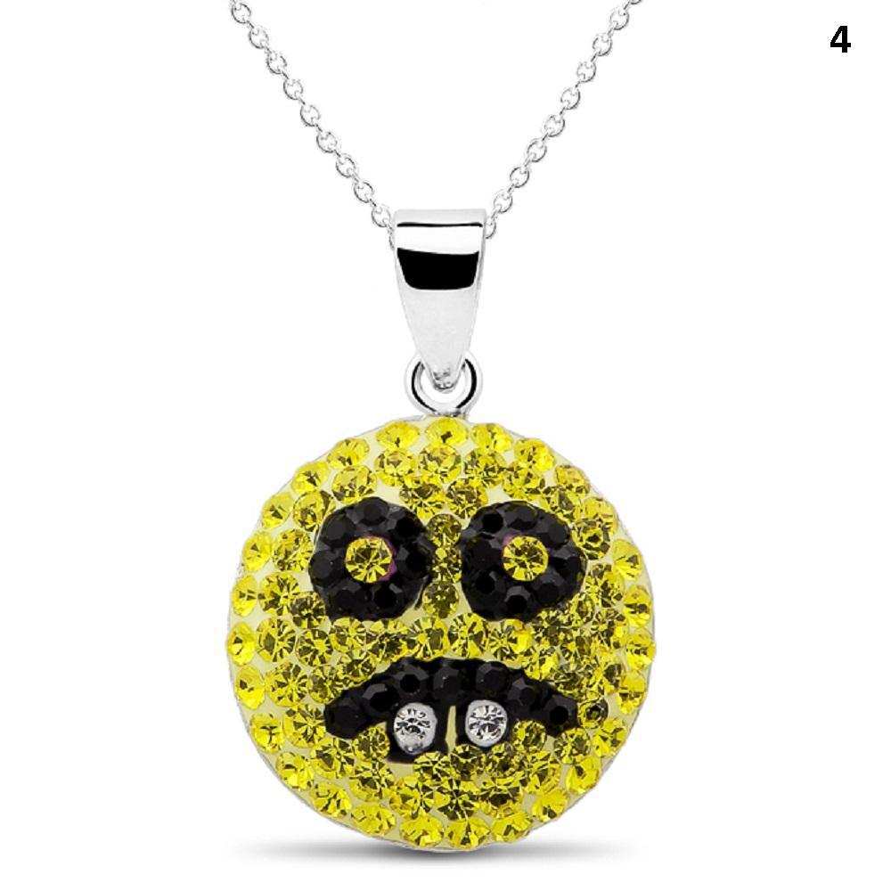 Crystal Emoji Designed Drop Necklace-Style 4-Daily Steals