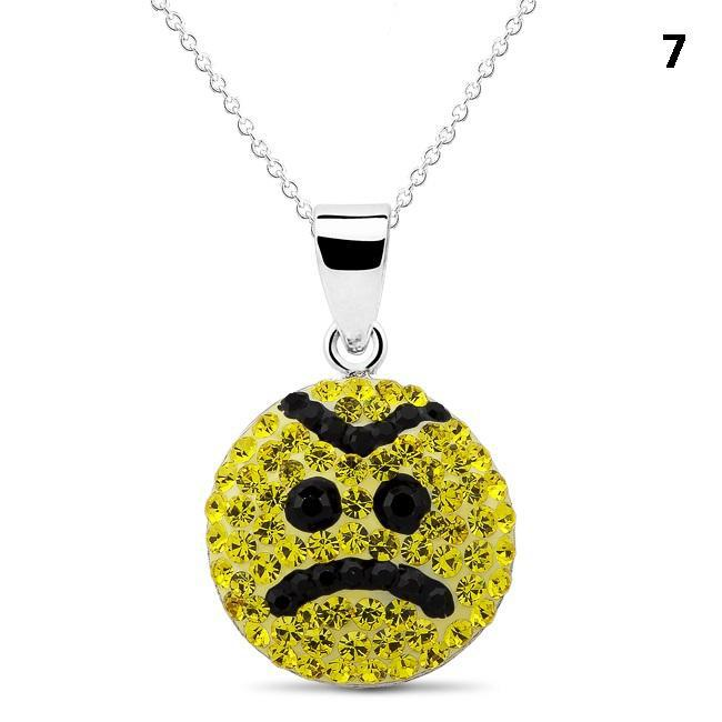 Crystal Emoji Designed Drop Necklace-Style 7-Daily Steals