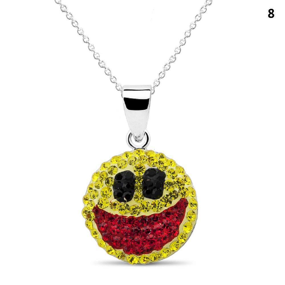 Crystal Emoji Designed Drop Necklace-Style 8-Daily Steals