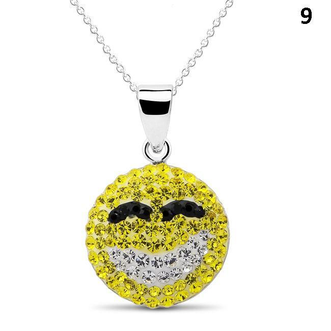 Crystal Emoji Designed Drop Necklace-Style 9-Daily Steals