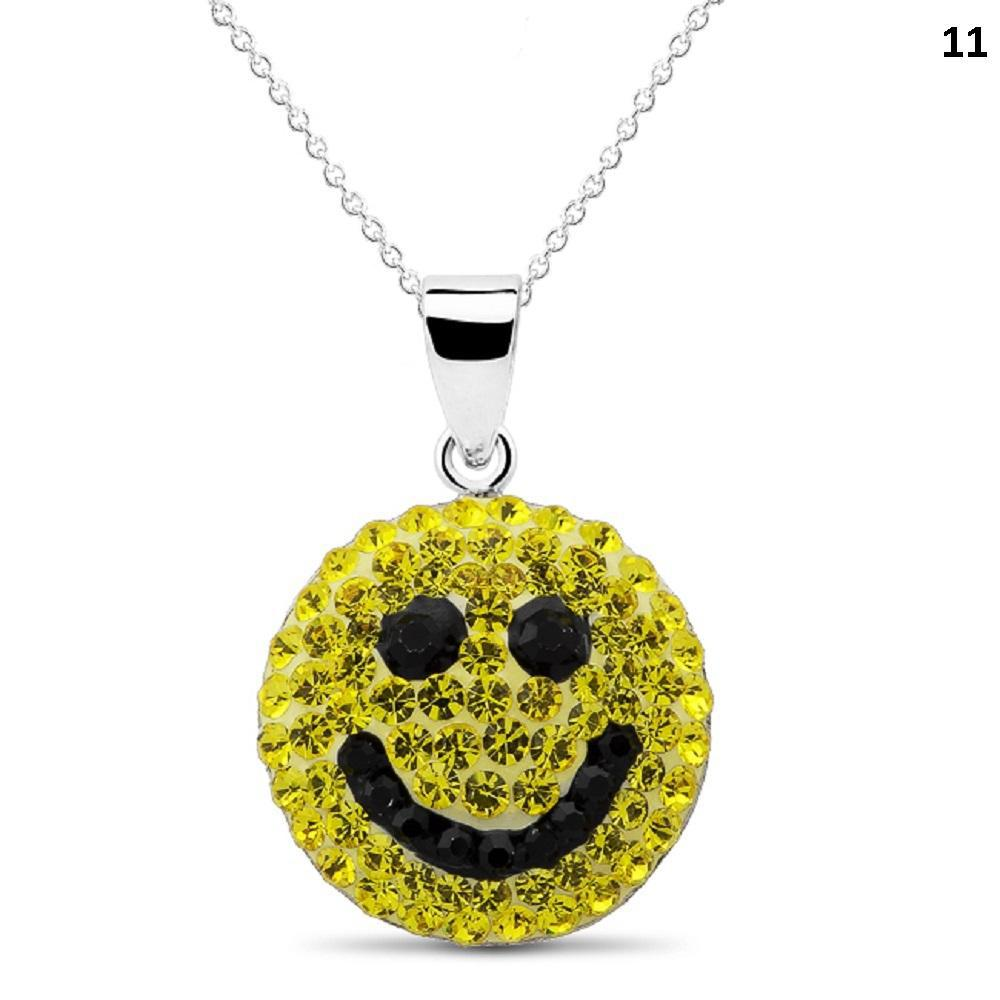 Crystal Emoji Designed Drop Necklace-Style 11-Daily Steals