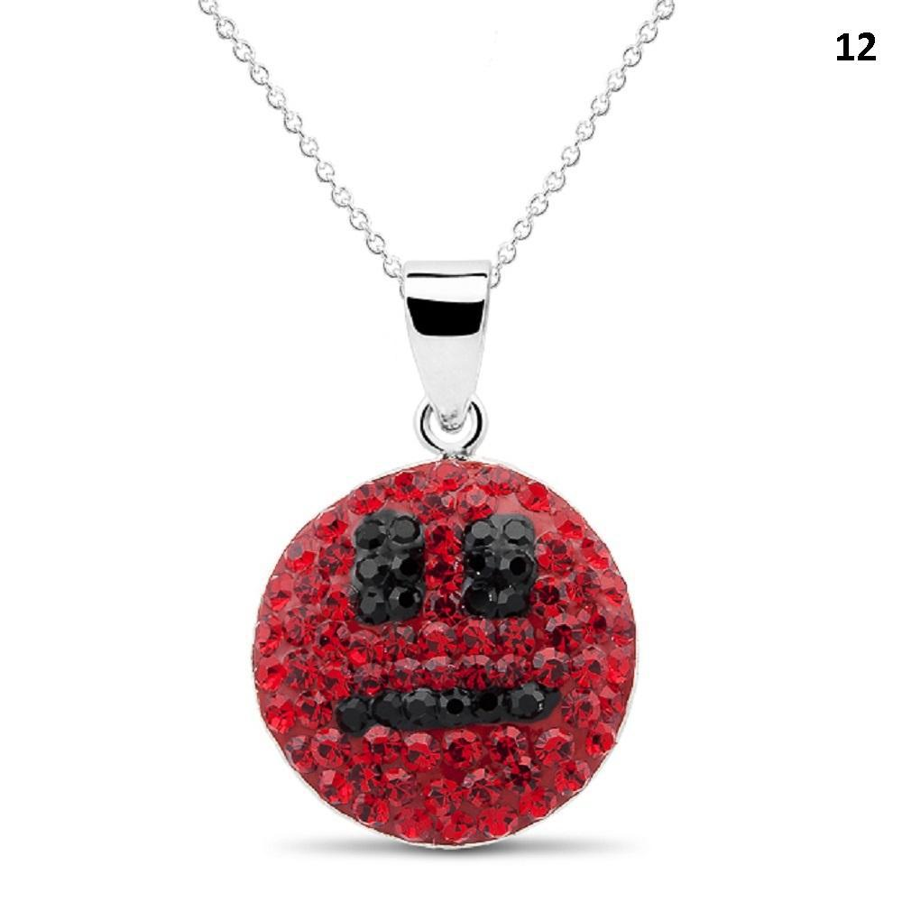 Crystal Emoji Designed Drop Necklace-Style 12-Daily Steals