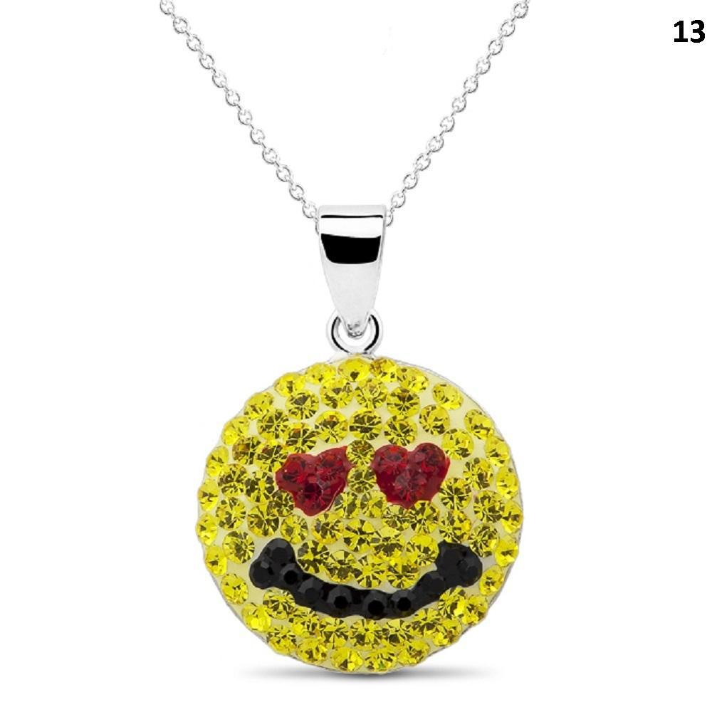 Crystal Emoji Designed Drop Necklace-Style 13-Daily Steals