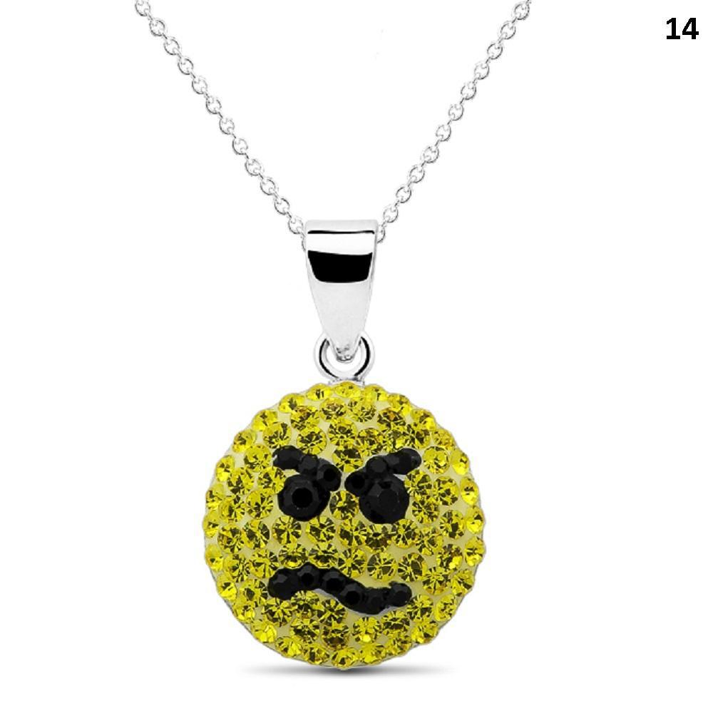 Crystal Emoji Designed Drop Necklace-Style 14-Daily Steals
