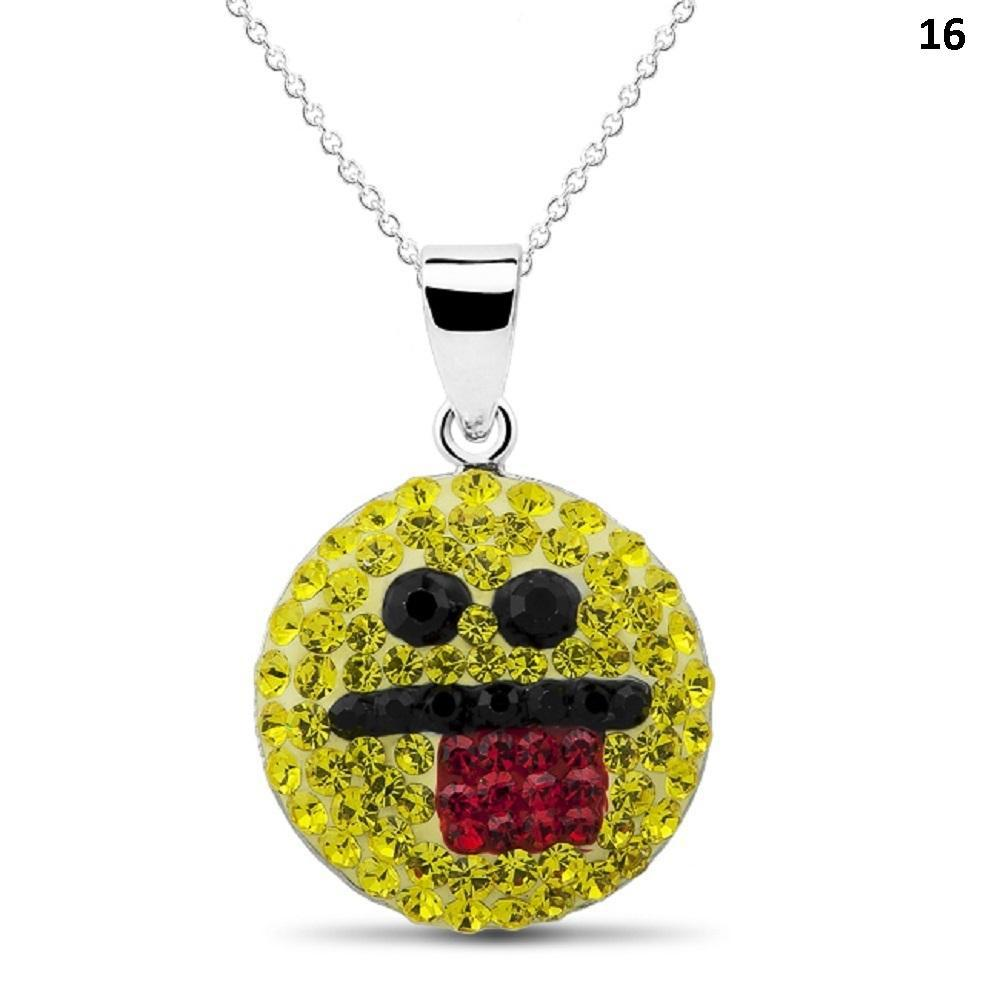 Crystal Emoji Designed Drop Necklace-Style 15-Daily Steals