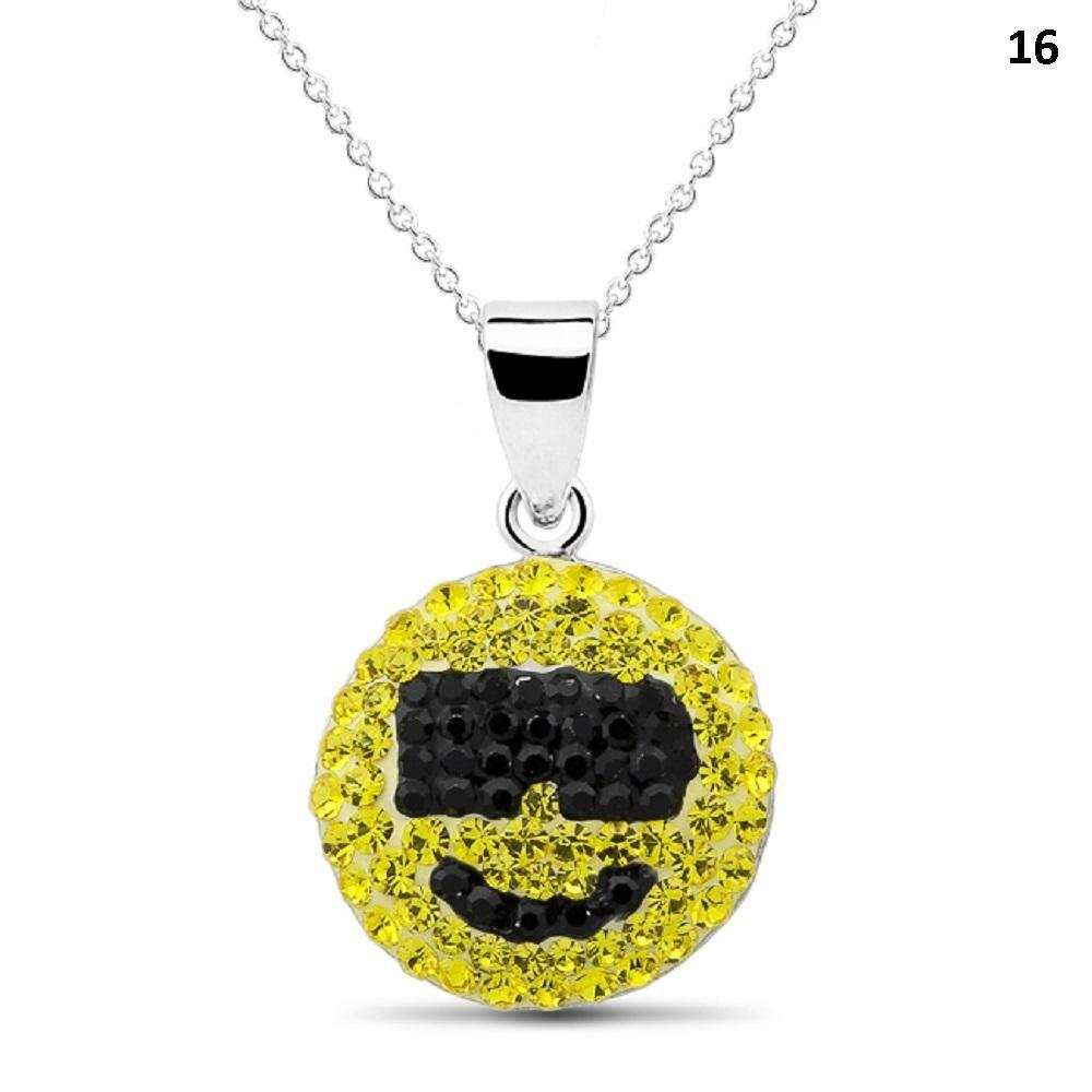Crystal Emoji Designed Drop Necklace-Style 16-Daily Steals