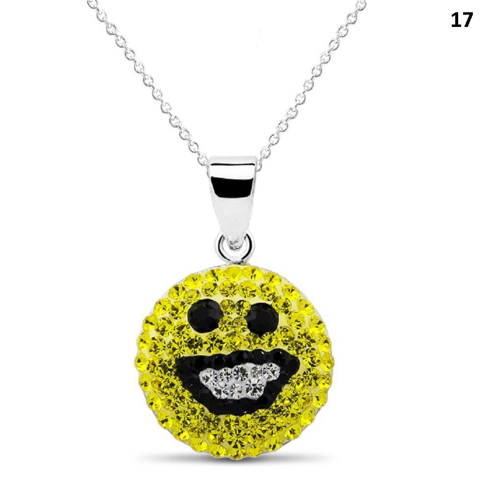Crystal Emoji Designed Drop Necklace-Style 17-Daily Steals