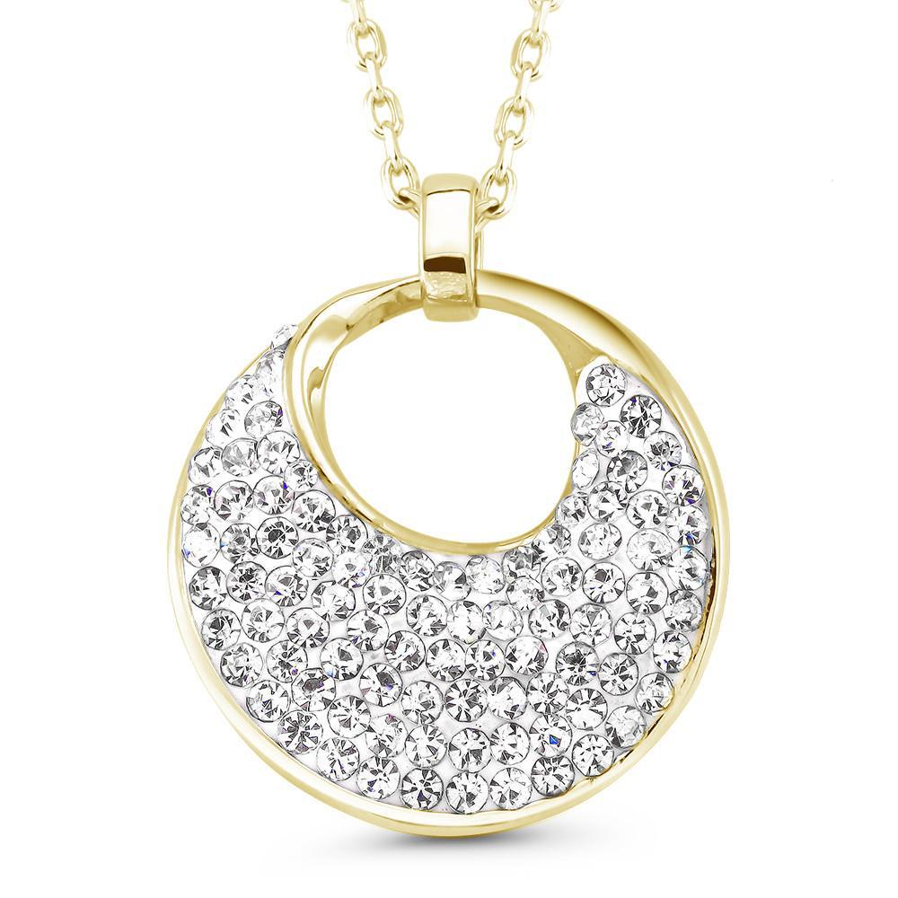 update alt-text with template Daily Steals-Crystal Round Drop Necklace-Jewelry-Yellow-