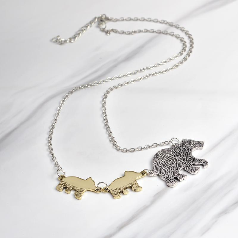 Mama Bear Necklace-Mom And Two Kids-Daily Steals