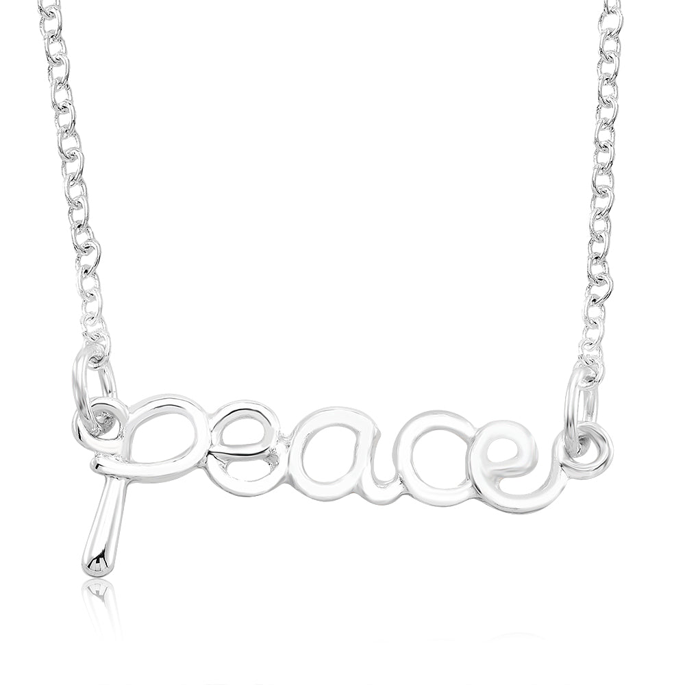 Inspirational Word Necklaces - Assorted Styles-Peace-Daily Steals
