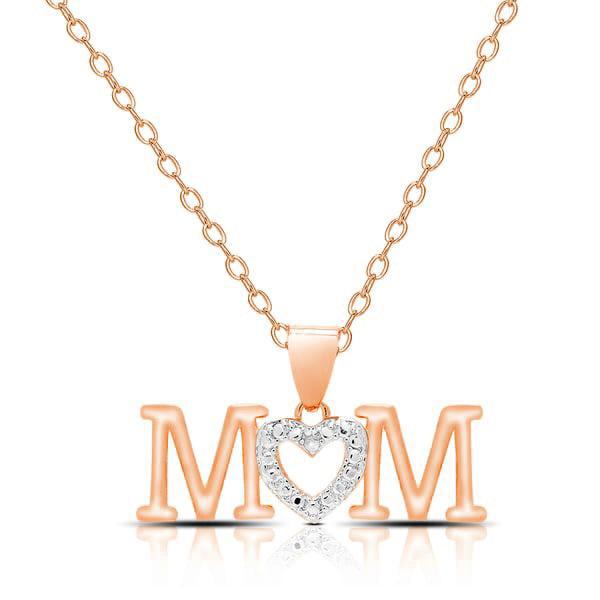 Mom Simulated Diamond Drop Necklace-Daily Steals