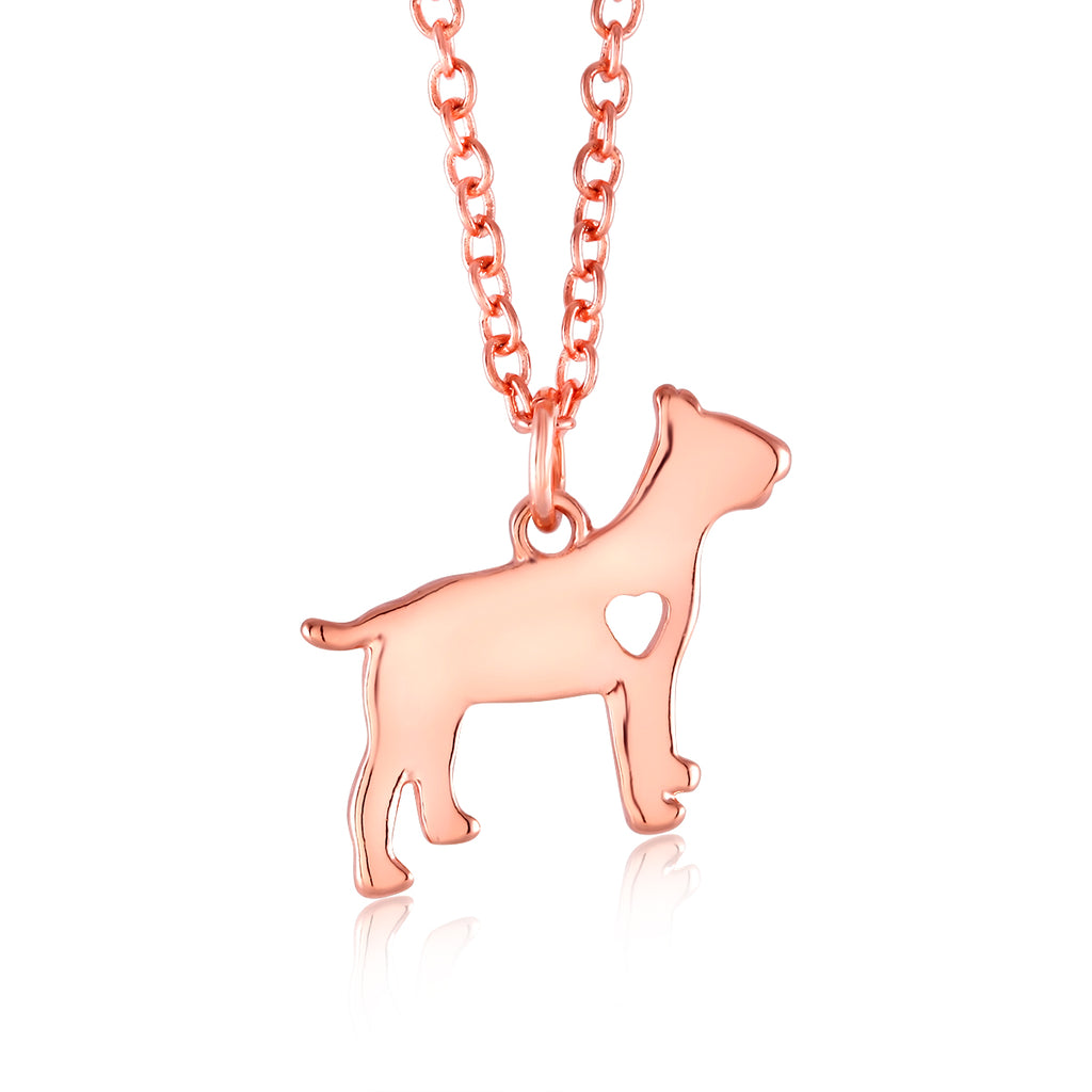 18kt Heart Dog Drop Necklace-Daily Steals