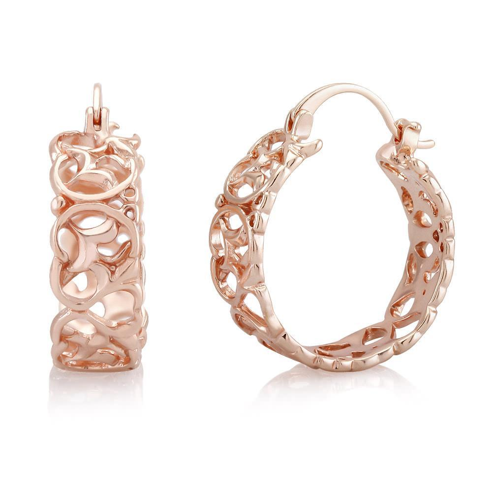 [2-Pack] Rose Gold Filigree Earrings-Daily Steals
