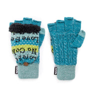 Women's Fingerless Flip Mittens by Muk Luks-Daily Steals