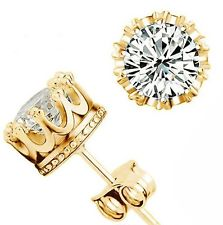 Cubic Zirconia Crown Stud Earrings-Daily Steals