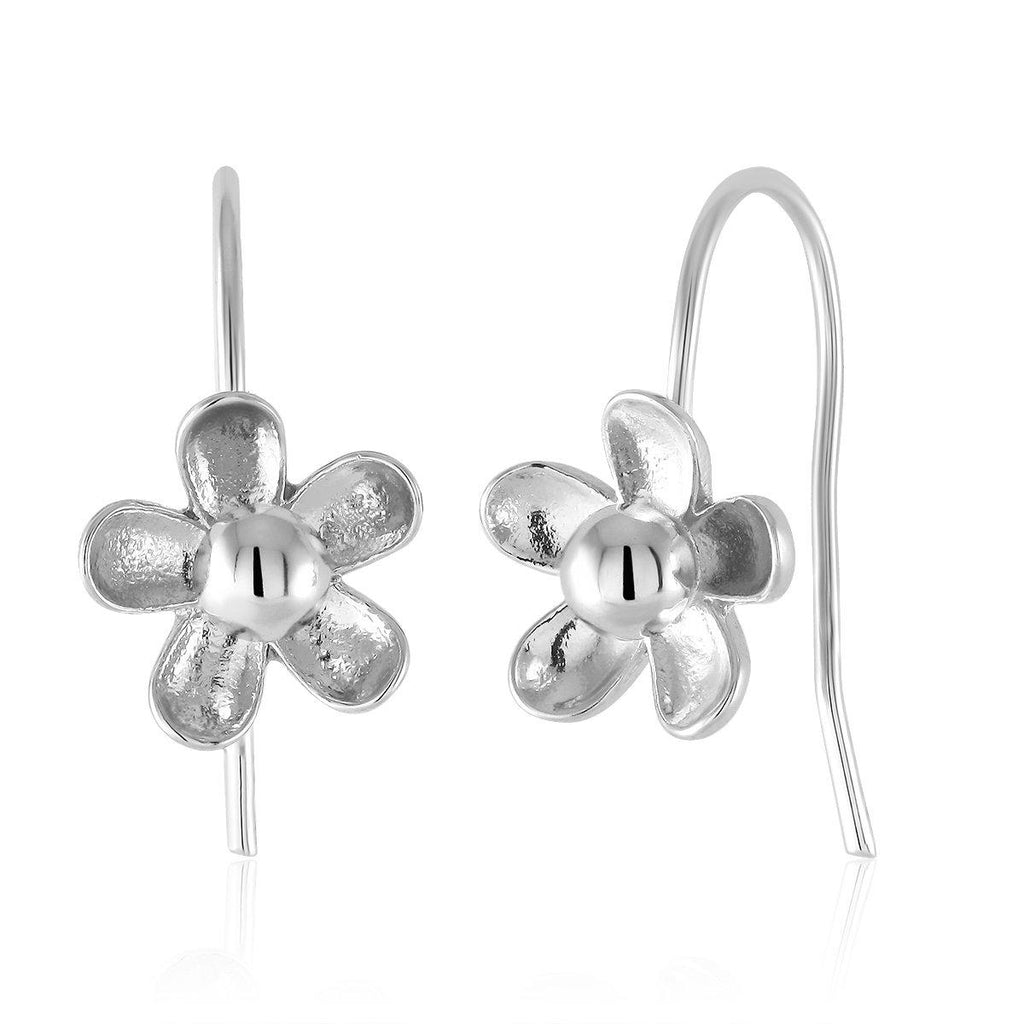 Flower Drop Earrings-White-Daily Steals