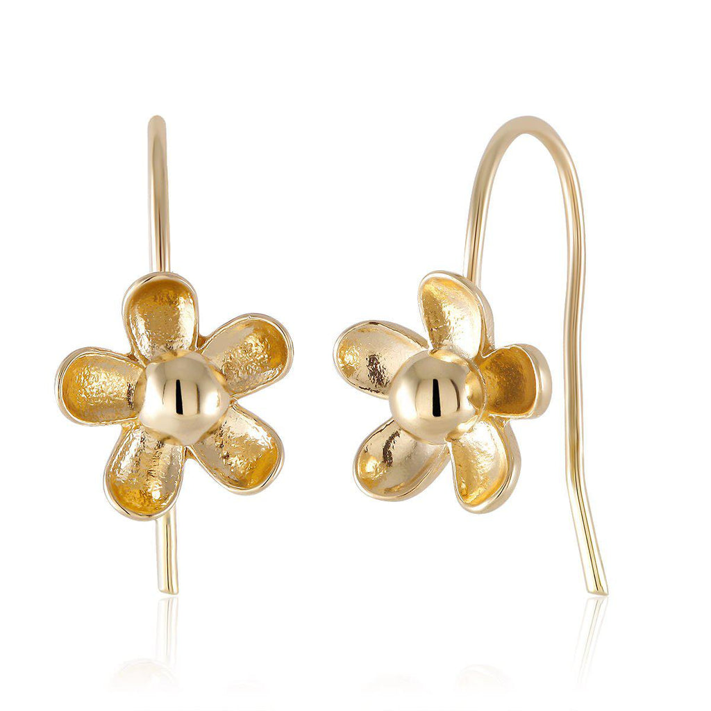 Flower Drop Earrings-Yellow-Daily Steals