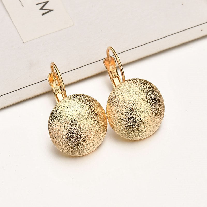 Glitter Shaped Drop Earrings