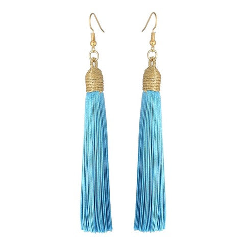 Boucles d'oreilles gland Long Drop-Bleu bébé-Daily Steals