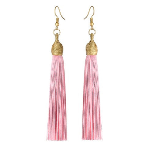 Long Pendant Tassel Earrings-Rose Clair-Daily Steals