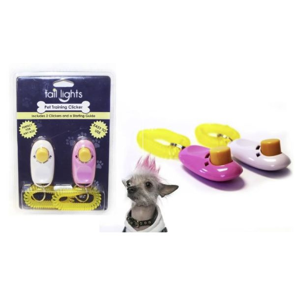 Tail Lights Pet Training Clickers-White and Pink-Daily Steals