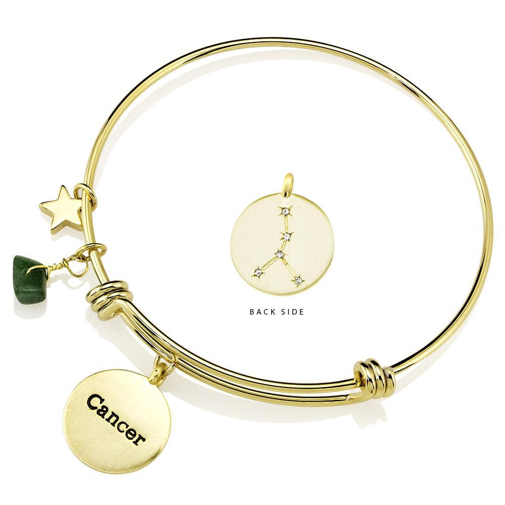 Designer-Inspired Gold-Plated Horoscope and Constellation Bangle-Daily Steals