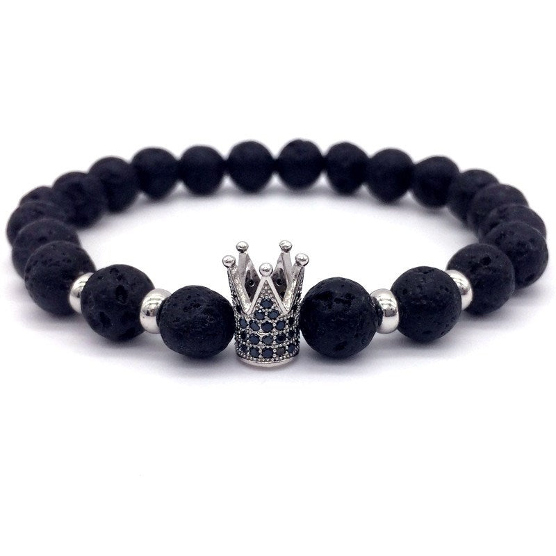 Beaded Men Bracelet-White-Daily Steals