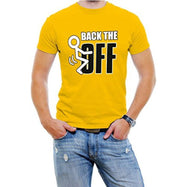 """Back The F Off"" Funny Men's T-Shirt-Yellow-S-Daily Steals"