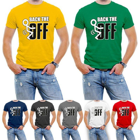 """Back The F Off"" Roliga herr-T-shirt-Daily Steals"