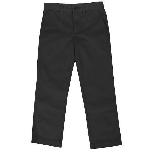 Daily Steals-Back To School Boys Flat Front School Uniform Pants-Men's Apparel-Black-12-