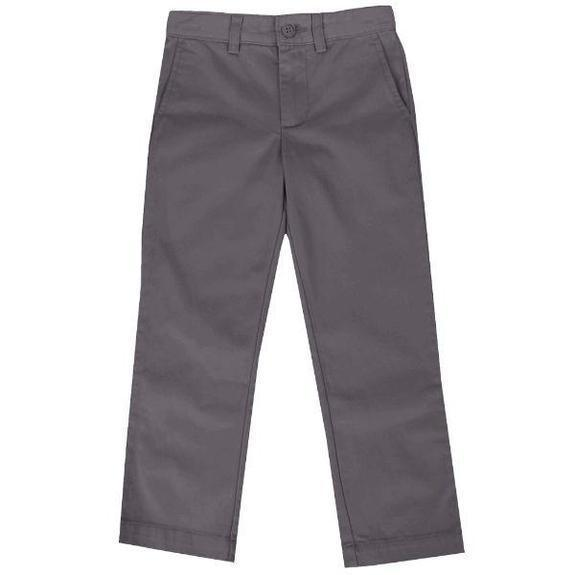 Daily Steals-Back To School Boys Flat Front School Uniform Pants-Men's Apparel-Grey-4-
