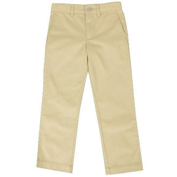 Daily Steals-Back To School Boys Flat Front School Uniform Pants-Men's Apparel-Khaki-4-