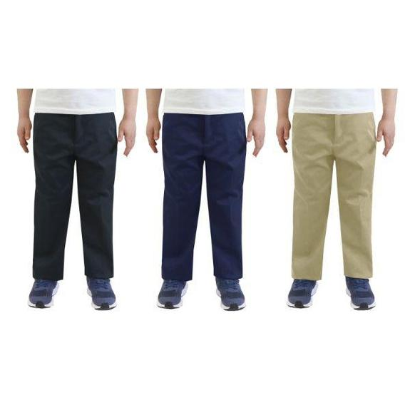 Daily Steals-Back To School Boys Flat Front School Uniform Pants-Men's Apparel-Grey-8-