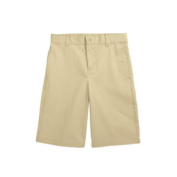 Daily Steals-Back To School Boy's Flat Front Twill School Uniform Shorts-Men's Apparel-Khaki-4-