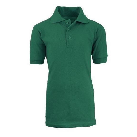 Daily Steals-Back To School Boy's Short Sleeve School Uniform Pique Polo Shirts-Men's Apparel-Hunter-4-