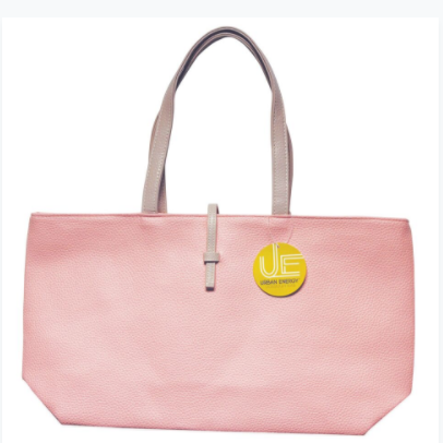 Urban Energy Crosstown Tote With Slip-Through Strap-Blush-Daily Steals