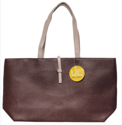 Urban Energy Crosstown Tote With Slip-Through Strap-Brown-Daily Steals