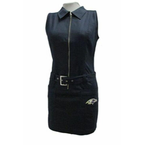 Baltimore Ravens or San Francisco 49ers NFL Women's Full Zip Dress-Ravens - Small-Daily Steals