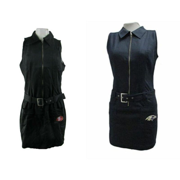 Baltimore Ravens or San Francisco 49ers NFL Women's Full Zip Dress-Daily Steals