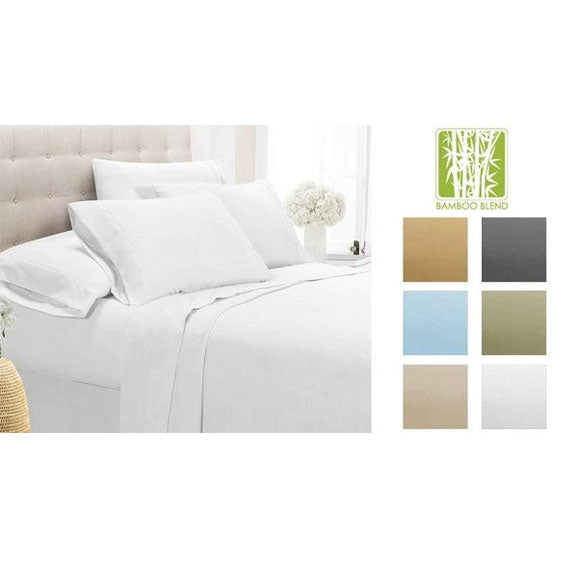 [4-Piece] Luxury Comfort Bamboo-Blend Sheet Set