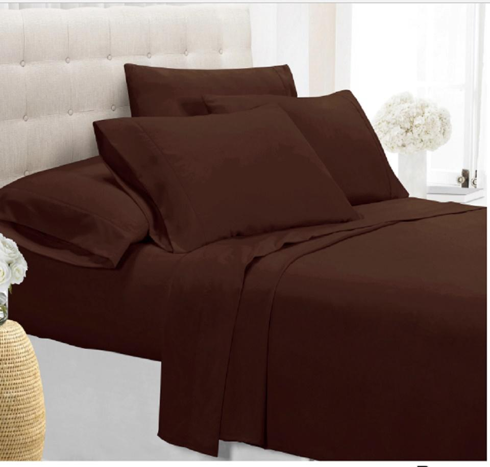 [4-Piece] Luxury Comfort Bamboo-Blend Sheet Set-CHOCOLATE-FULL-Daily Steals