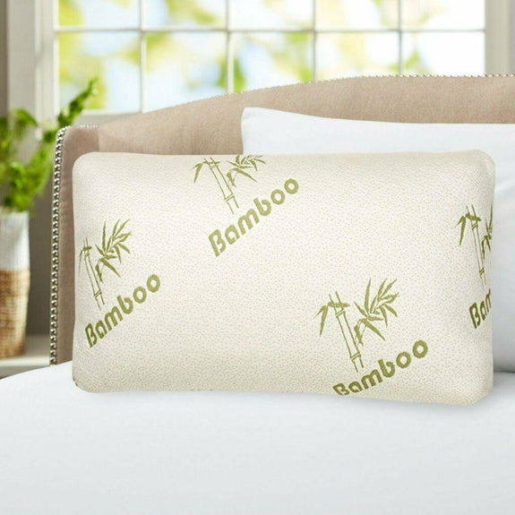 Bamboo Comfort Memory Foam Pillows - Hypoallergenic Cover - 1 or 2 Pack-Daily Steals