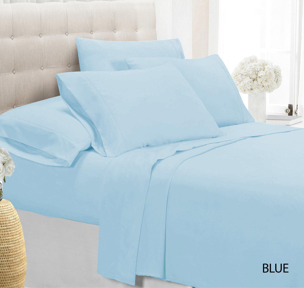 [4-Piece] Luxury Comfort Bamboo-Blend Sheet Set-SKY BLUE-TWIN-Daily Steals