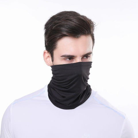 Bandana Neck Gaiter Face Mask-Black-