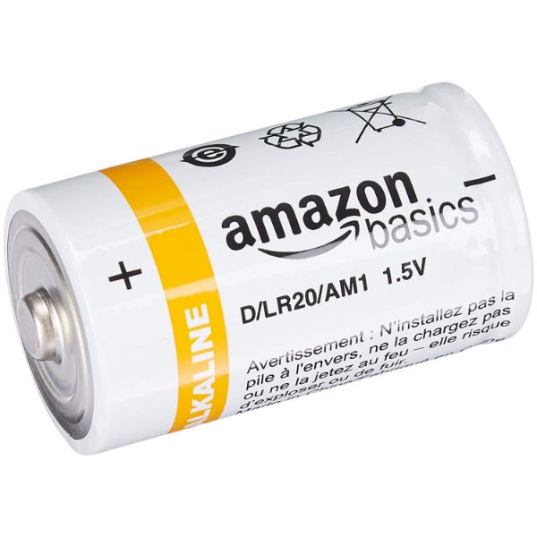 AmazonBasics D Cell 1.5 Volt Everyday Alkaline Battery - 24 Pack-Daily Steals